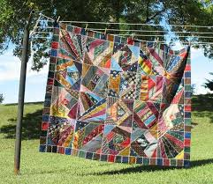 POSTCARDY: the postcard explorer: VTT - Crazy Quilt Made From ... & The quilt is approximately 60