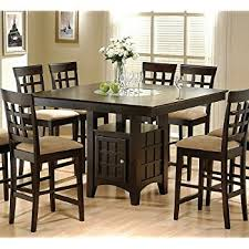 dining room table height. coaster hyde counter height square dining table with storage base in cappuccino(table only) room t