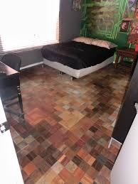 this guy used free sles from the for his floor bit by bit i like the way it looks and the frugality