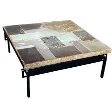 round slate top coffee table fascinating photos design metal and set inlay end marble tables side black wood antique outdoor