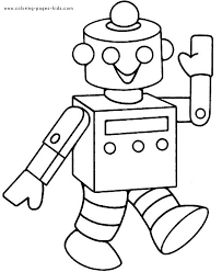 Small Picture Robots Walking Smiling Robots Coloring Pages Pinterest