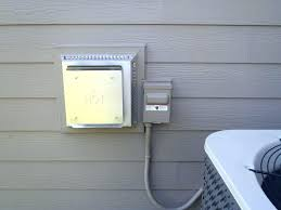 exterior exhaust vent cover wall