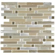 quartz 1 beige stone glass metal mix mosaic tile sheet