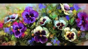 how to paint pansies step by step flower painting s by nancy na art studio you