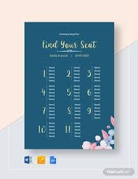 35 Wedding Seating Chart Templates Pdf Doc Free