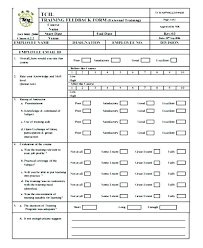 Template Questionnaire Word Trainer Evaluation Template Iso Certification Co