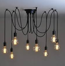 mordern nordic retro edison bulb light chandelier vintage loft antique adjustable diy e27 art spider ceiling cheap diy lighting