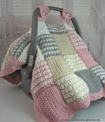 crochet pattern baby car seat cover