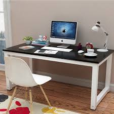 This Stylish Simple Design Wooden Desktop Study Home Office Computer Desk  PC Laptop Table ...