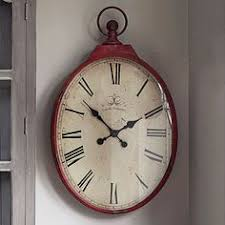 large oval clock $117 (but in pounds sterling, not dollars)  Red Wall ...