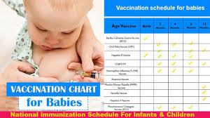 Child Immunization Chart Vaccine Sechdule For Baby Vaccine Schedule For Children Immunization Chart