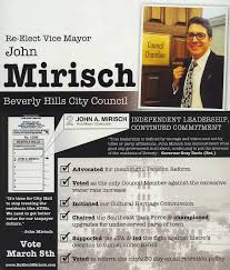 what do candidates flyers suggest about beverly hills leaders his campaign message hits hard on city pension reform and the recent water rate hike his softer side he s the only candidate a school age kid is