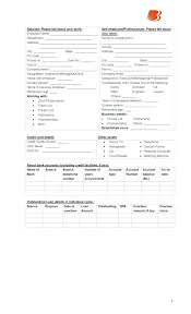 Business Credit Application Form Download Loan In Word Format