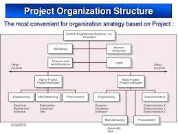 Sample Project Organization Chart Project Organization And Structure