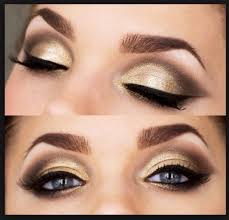 the golden with the brownish bronzy color in the crease makes a nice bination this