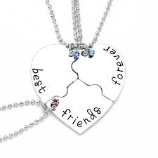 details about f best friends forever pendant necklace for girls womens 3 f jewelry silver