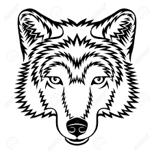 wolf face black and white. Modren Black And Wolf Face Black White A