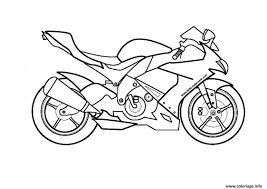 Coloriage Moto De Course 14 Dessin