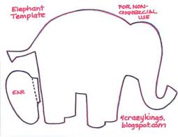 Baby Elephant Template Elephant Cut Out Templates Elephant Template Printable Baby