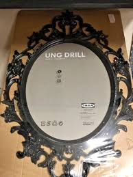 new ikea ung drill large black oval picture frame vintage shabby inspired