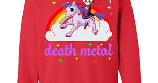 <b>Death Metal Rocker Unicorn</b> T Shirt T-Shirt