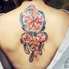 Hawaiian Dream Catcher 100 Colorful Dream Catcher Tattoo That Will be Uniquely Your Own 26
