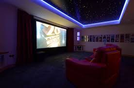 home theater ceiling lighting. Modren Theater Home Theater With Red Seats And LED Lights Ceiling Lighting