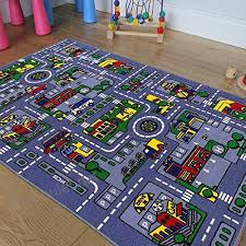 cr s kids baby room daycare classroom playroom area rug great for playing with cars city map