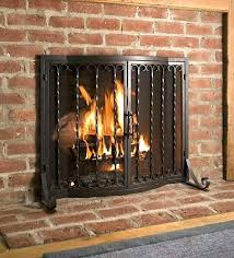 large fireplace door pleasant hearth glass
