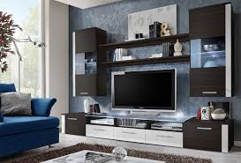 ... Fascinating Tv Wall Entertainment Unit Modern Entertainment Centers  Brown And White Cabinet With ...