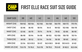 Omp Kart Suit Size Chart Buy Omp First Elle Womens Race Suit Demon Tweeks
