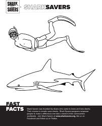 Small Picture Shark Savers Coloring Pages