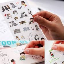 <b>6 pcs/lot cute cat</b> PVC paper sticker diy planner sticker scrapbooking ...