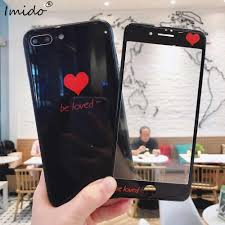 Designer Tempered Glass For Iphone 6 Red Heart Tempered Glass Phone Cases Screen Protector For