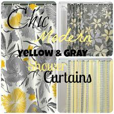chic affordable yellow and gray shower curtains