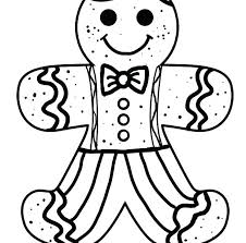 Gingerbread Man Coloring Pages Printable Houseofhelpccorg