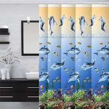 rick julie showerdolphin shower curtain liner heavy duty antibacterial mildew resistant vinyl with 12pcs rustproof grommets bath tub shower curtain liner