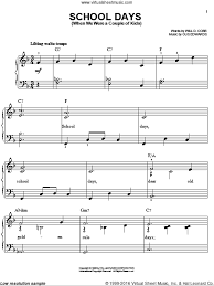 sheet music for kids cobb school days when we were a couple of kids sheet music for