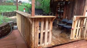 Bar Made Out Of Pallets Bar And Deck Made From Pallets Youtube