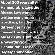 did moses copy the law from the code of hammurabi