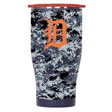Orca Detroit Tigers 27oz Digital Pattern Chaser Tumbler With Lid In 2021 Tumblers With Lids Digital Pattern Orca