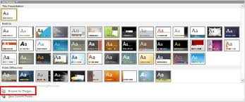 Microsoft Office Ppt Theme Applying Themes In Word Excel And Powerpoint 2010 For Windows