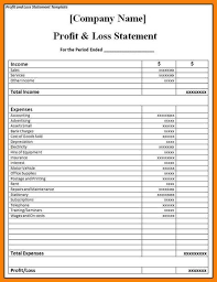 profit loss projection image result for profit and loss projection template business