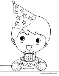 Small Picture Boy with a birthday cake coloring pages Hellokidscom