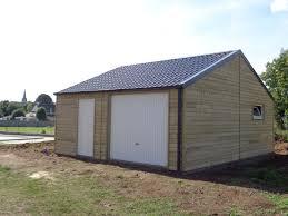 Grand Garage Bipente Finition Bois