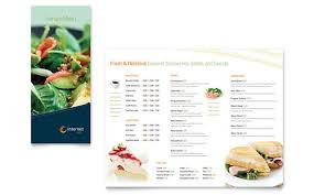Menu Brochure Template Free Restaurant Menu Templates Sample ...