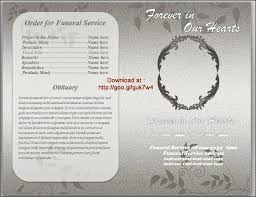 Free Funeral Templates Brochure Template Word Pamphlet Long Download ...