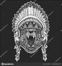 медведь прохладно животных носить коренных американцев индийской
