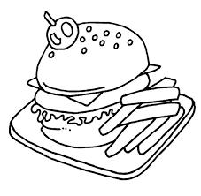 Disegni Da Colorare Hamburger Con Patatine Disegni Da Colorare E