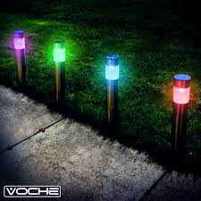 colour changing led garden bollard lights 65 free clearance home
